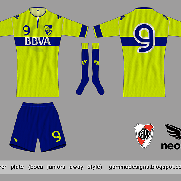 river plate (boca away style)