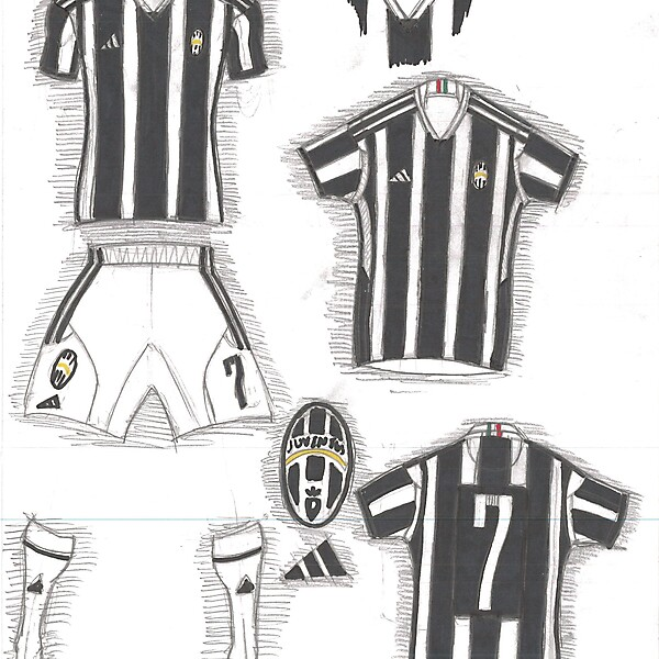 Juventus Home - Adidas template concept with color