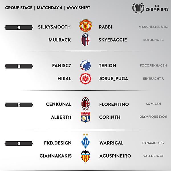 Kit Champions - matchday 4