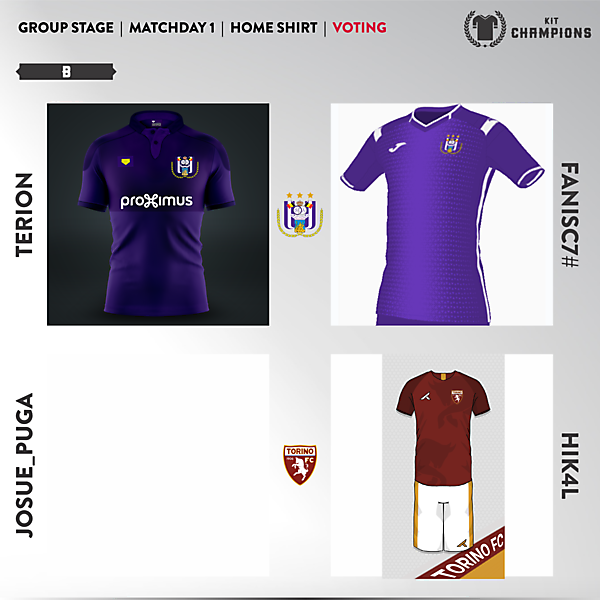 matchday 1 voting - group B