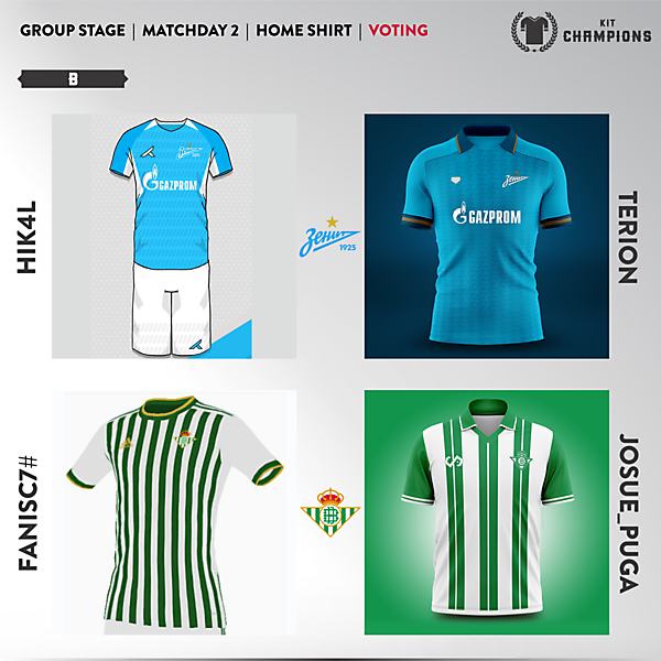 matchday 2 voting - group B
