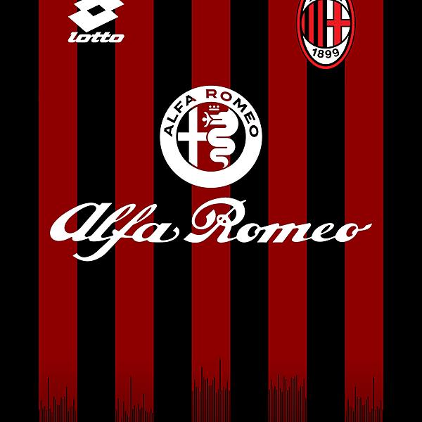 AC Milan Home Kit - Lotto
