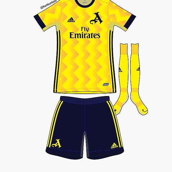 Arsenal away kit by @kunkuntoto