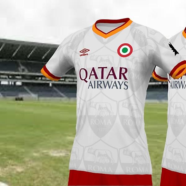 As Roma fan jersey remake