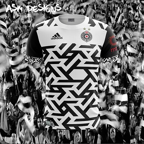 FK Partizan Adidas 2018 Home Kit