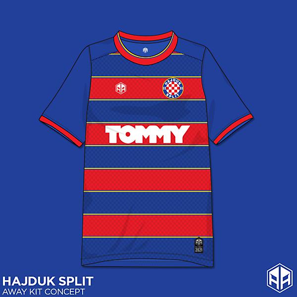 Hajduk Split away kit concept