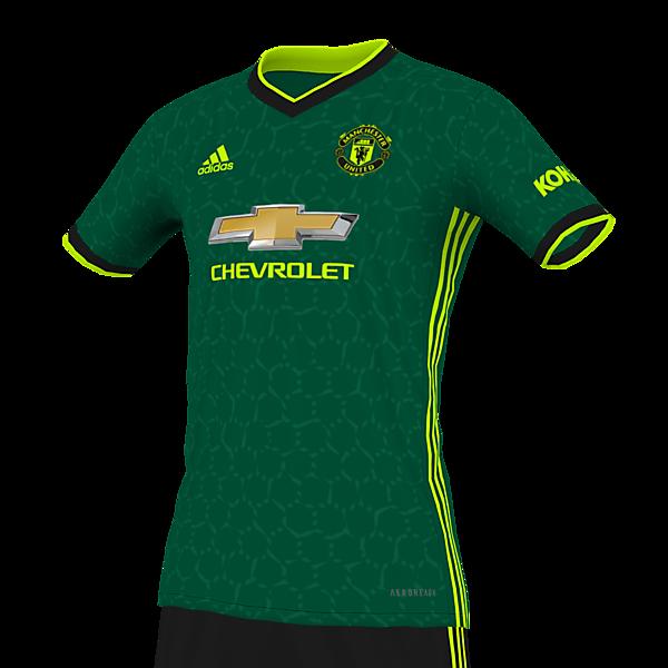 Manchester United Forest Green/Black/Volt Kit