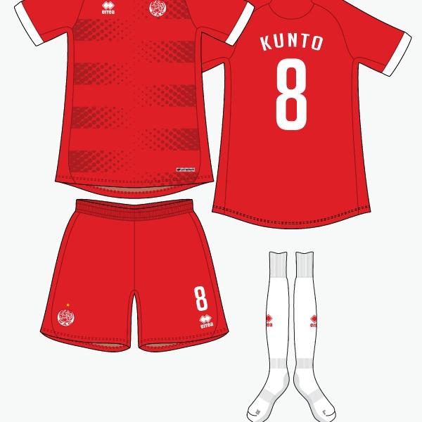 Wydad AC home kit by @kunkuntoto