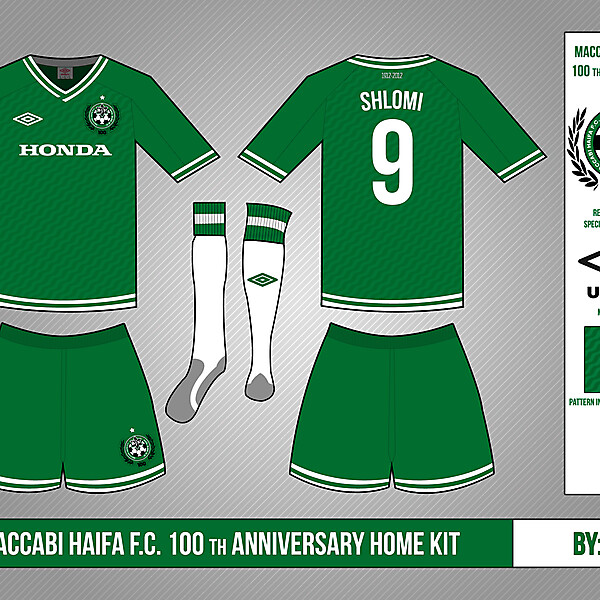 Maccabi Haifa FC (100th anniversary) Kit & Crest Competition (closed)