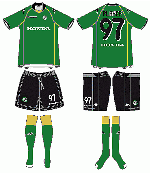 Maccabi Haifa 100th Anniversary Kappa Home Kit