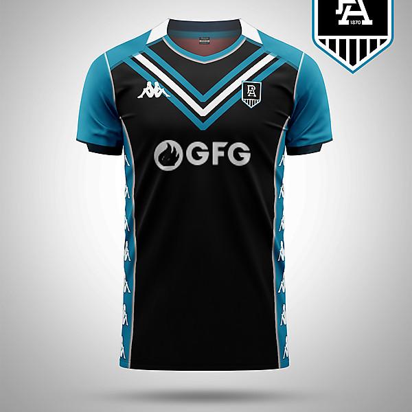 Port Adelaide AFL as a soccer kit