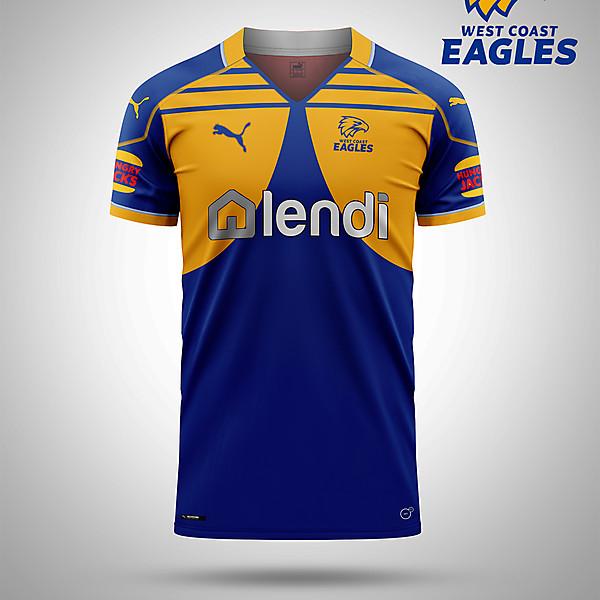 West Coast Eagles AFL as a soccer kit
