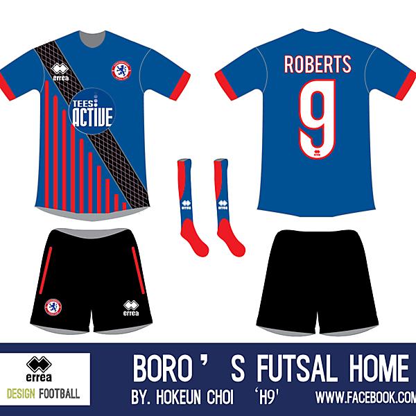 H9 X Middlesbrough futsal club kit design.