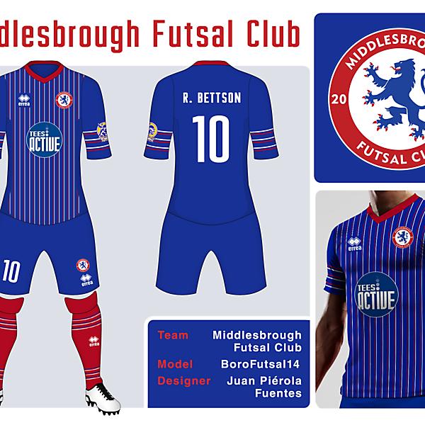 Middlesbrough Futsal Club 2013 Errea shirt