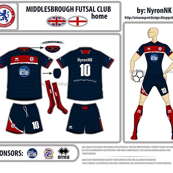 My Middlesbrough Futsal home kit 2013-2014.