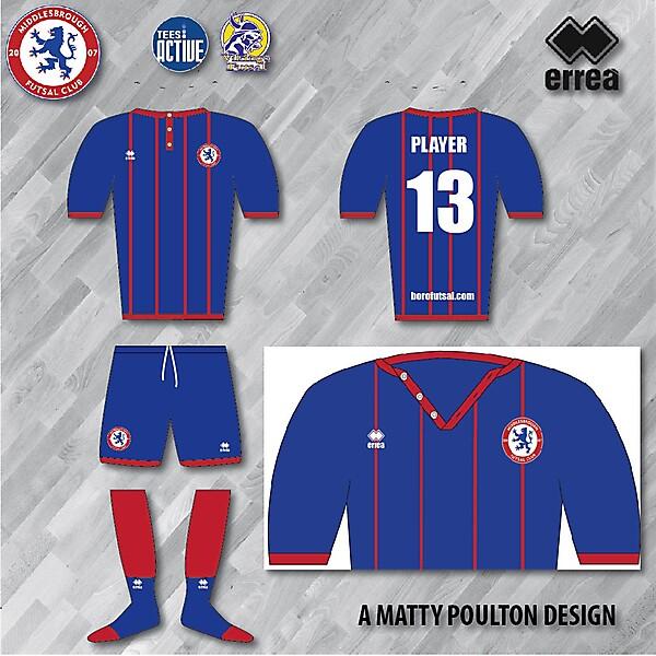 Errea Boro Futsal Kit Stripes