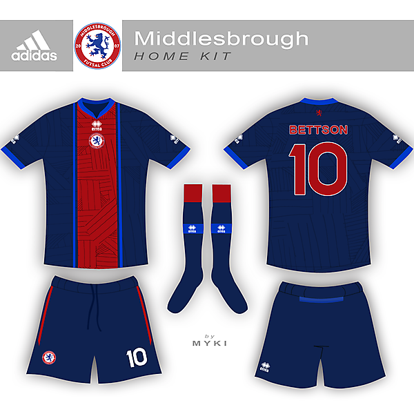Middlesbrough Futsal Club Home Kit
