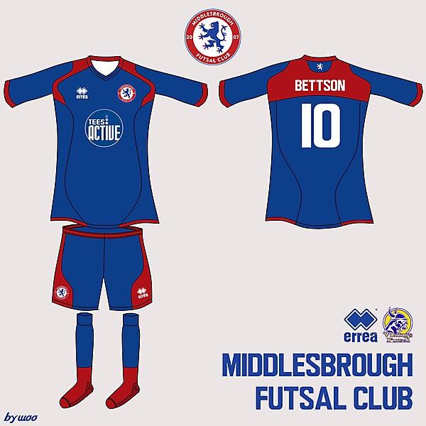 Middlesbrough Futsal Erreà Home Kit 1
