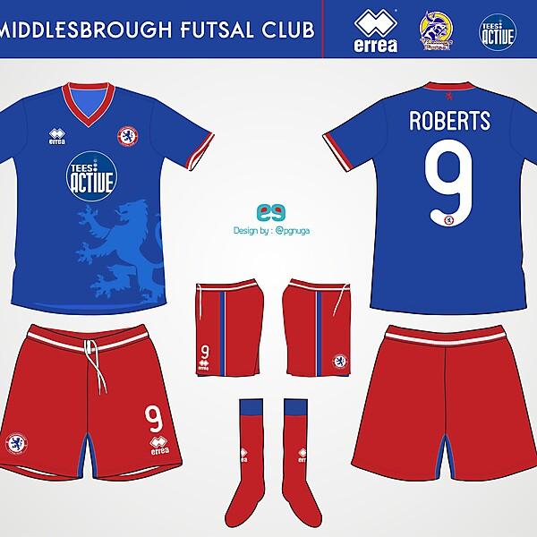 Errea Middlesbrough Futsal Club Home Kit #6