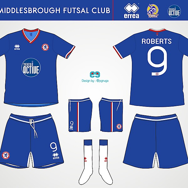 Errea Middlesbrough Futsal Club Home Kit #8