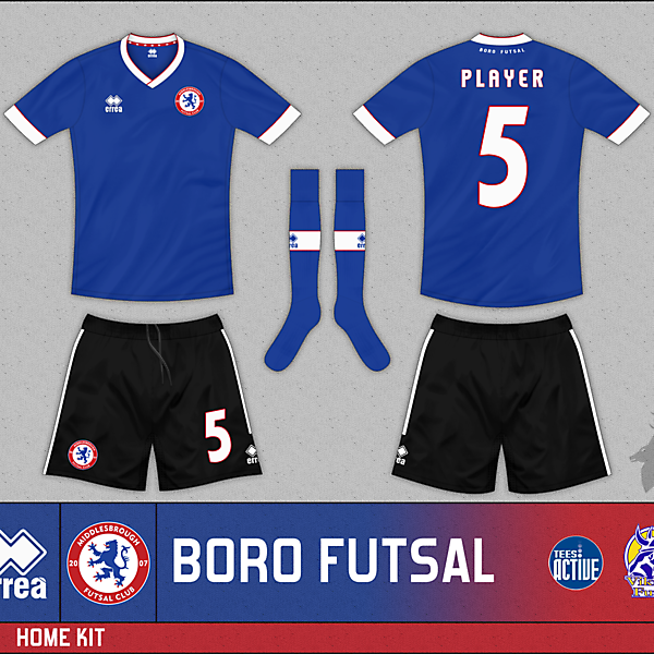 Boro Futsal Home Kit - Errea