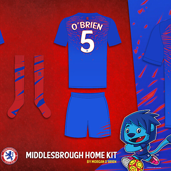 Middlesbrough Home Kit by Morgan OBrien