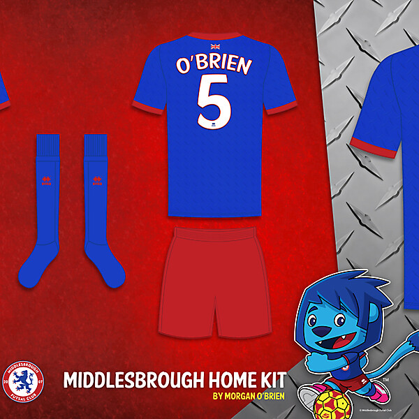 Middlesbrough Home Kit 002 by Morgan OBrien