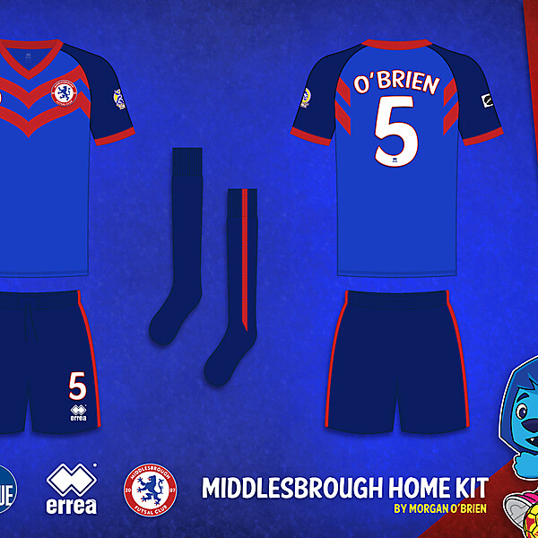 Middlesbrough Home Kit 006 by Morgan OBrien