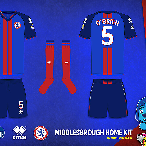 Middlesbrough Home Kit 009 by Morgan OBrien
