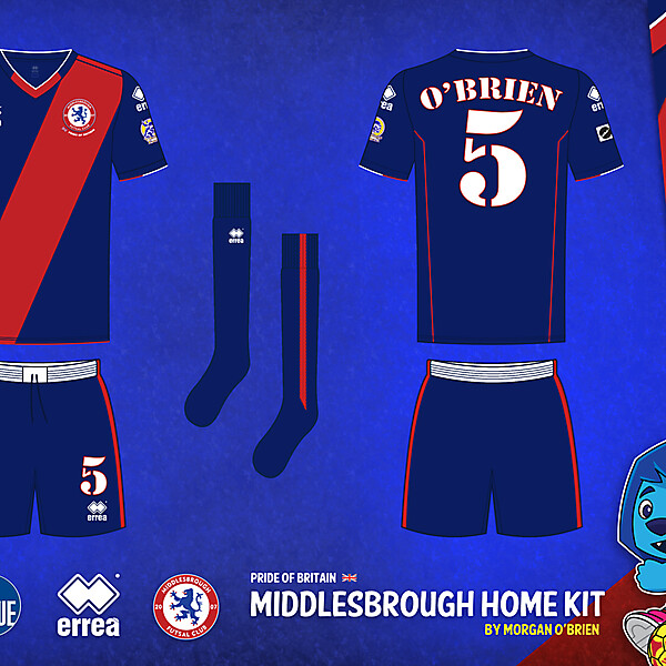 Middlesbrough Home Kit 010 by Morgan OBrien
