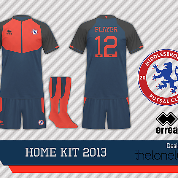 Middlesbrough Futsal Home Kit 2013 by TheLonelyKId