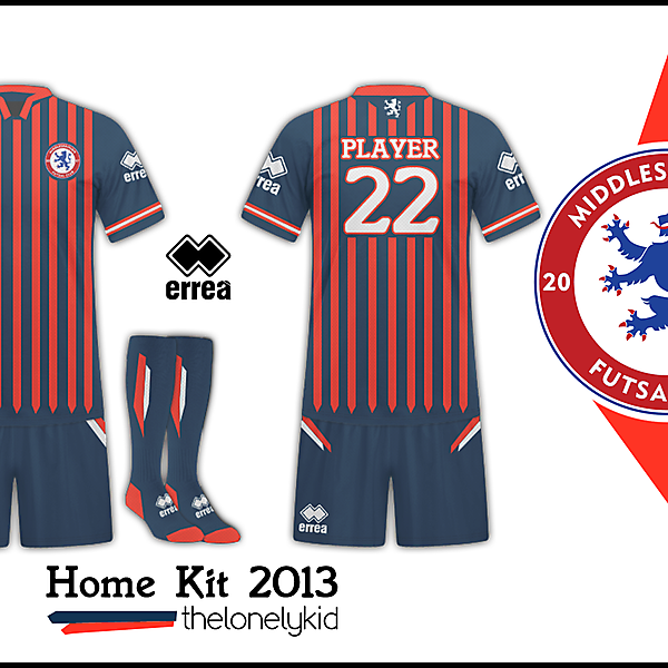 Middlesbrough Futsal-Home Kit Rayas