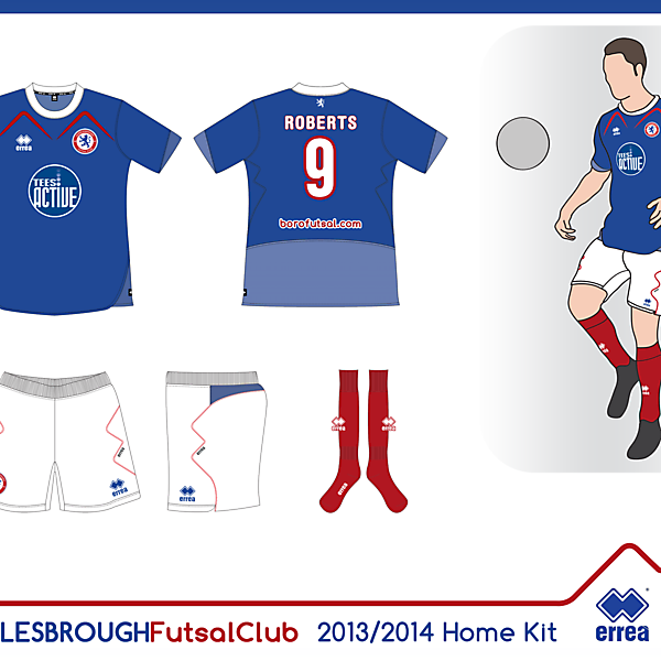 Boro Futsal Home Kit 13/14