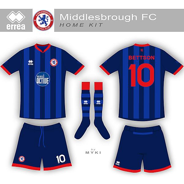 Middlesbrough Futsal Club Home Kit