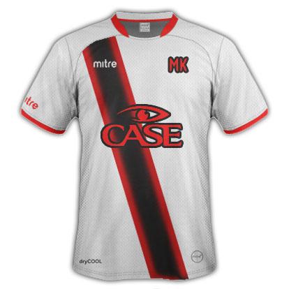 MKFC mitre top with sponsor