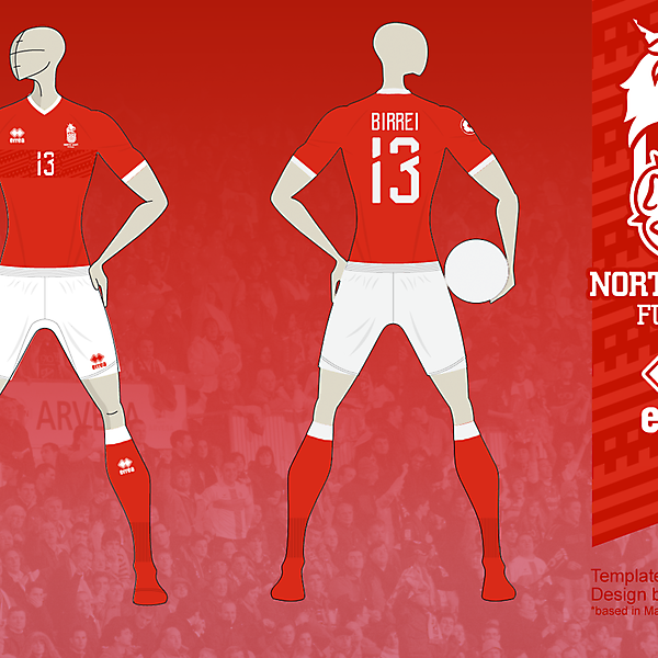 NE FUTSAL Home kit 02, based in Matupeco's crest v01