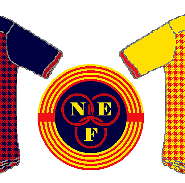 North East Futsal Crest and Kits V.2