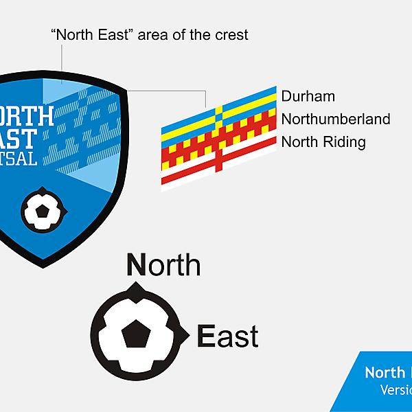 North East Futsal Crest version 01