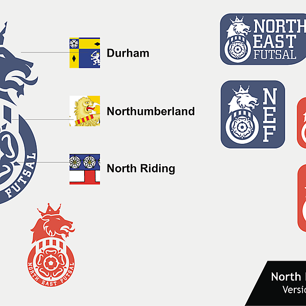North East Futsal Crest version 03