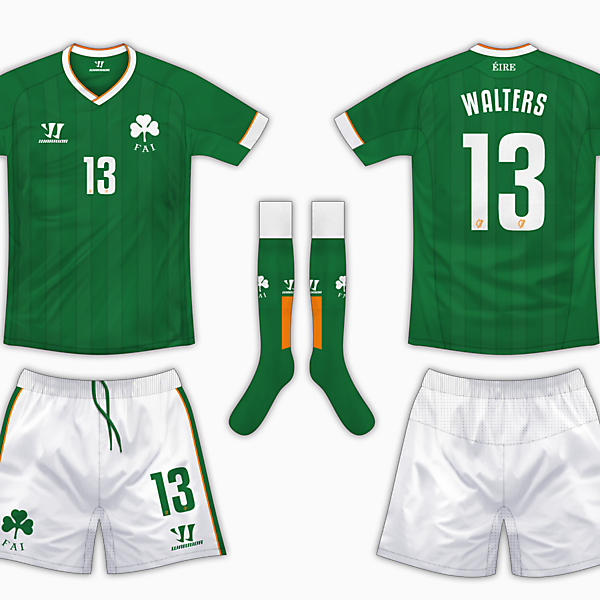 Republic of Ireland Warrior Competition - Home Kit