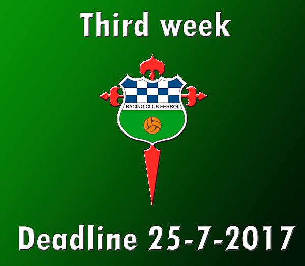 Third week -Segunda B- Racing Ferrol