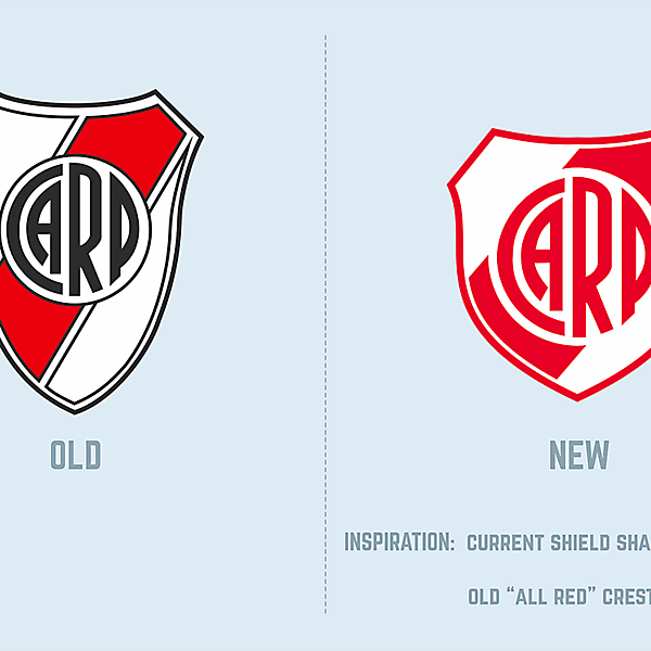 CA River Plate - new crest
