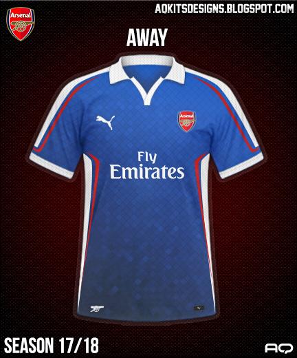Arsenal FC Away Kit Season 17/18