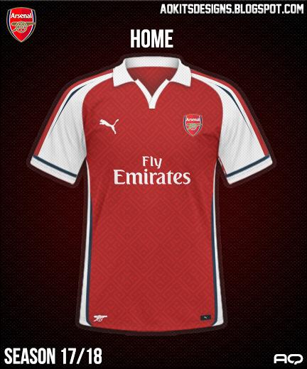 Arsenal FC Home Kit Season 17/18