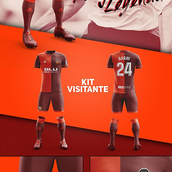 Away Fantasy Kit Valencia CF ver 3