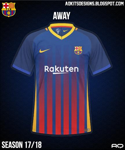 FC Barcelona Home Kit Season 17/18