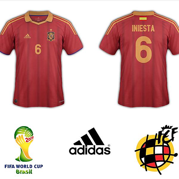 Spain 2014 Home Kit