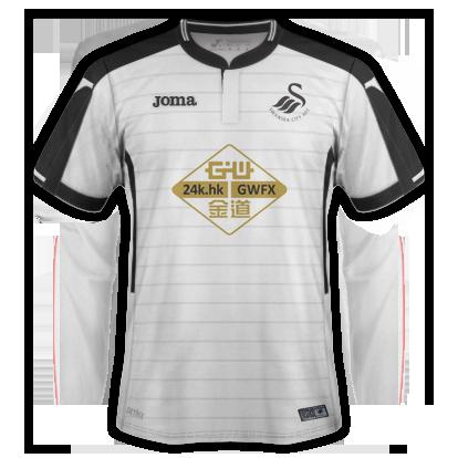 Swansea City 2016-17 Joma Home Kit