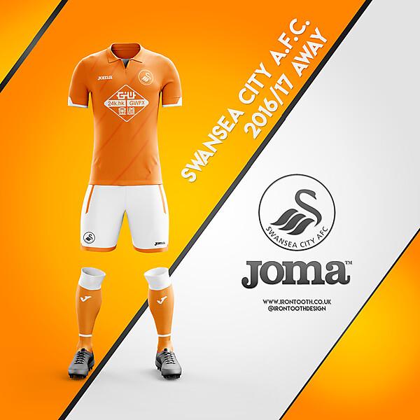 Swansea Joma Away Home 16/17
