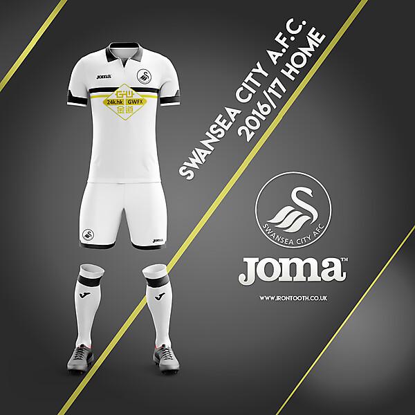 Swansea Joma Kit Home 16/17
